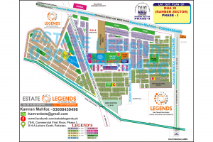 Map OF DHA Rahber Phase 1