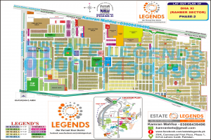 Map of DHA Rahber Phase 2