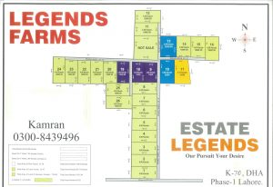 Map of Legends Farms Lahore