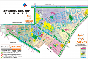 Map Showing Aeas ofNew Garden Town