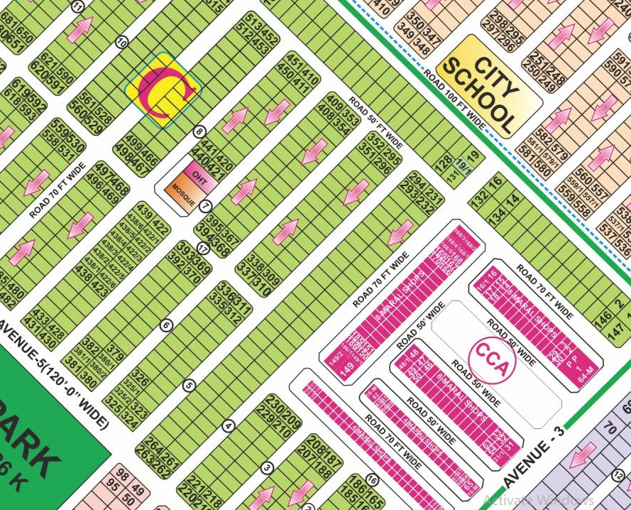 Phase 6 C Block 150 ft Road Hot Location Plot in DHA