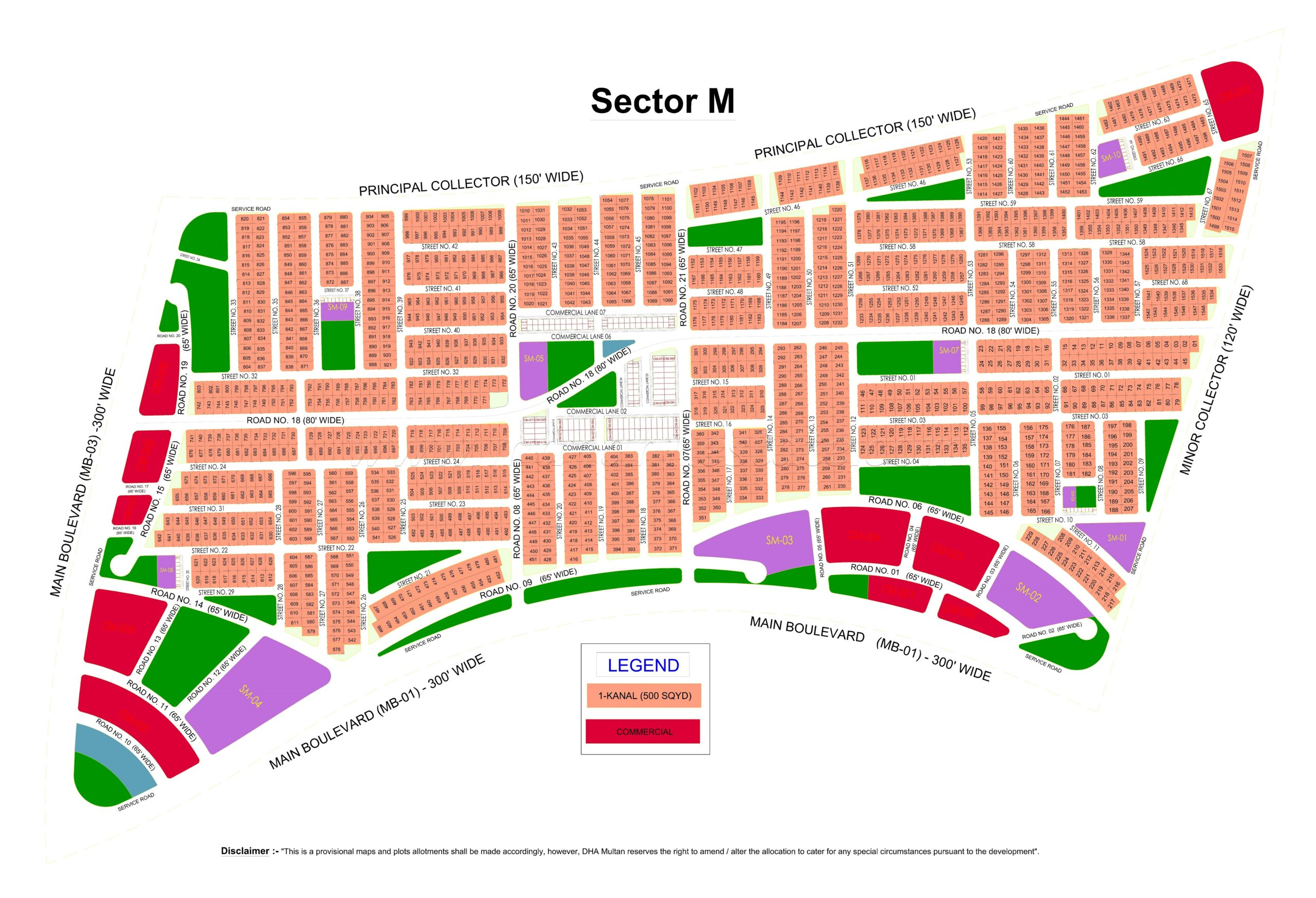 M 1417 1 Kanal Prime Location Plot in DHA Multan