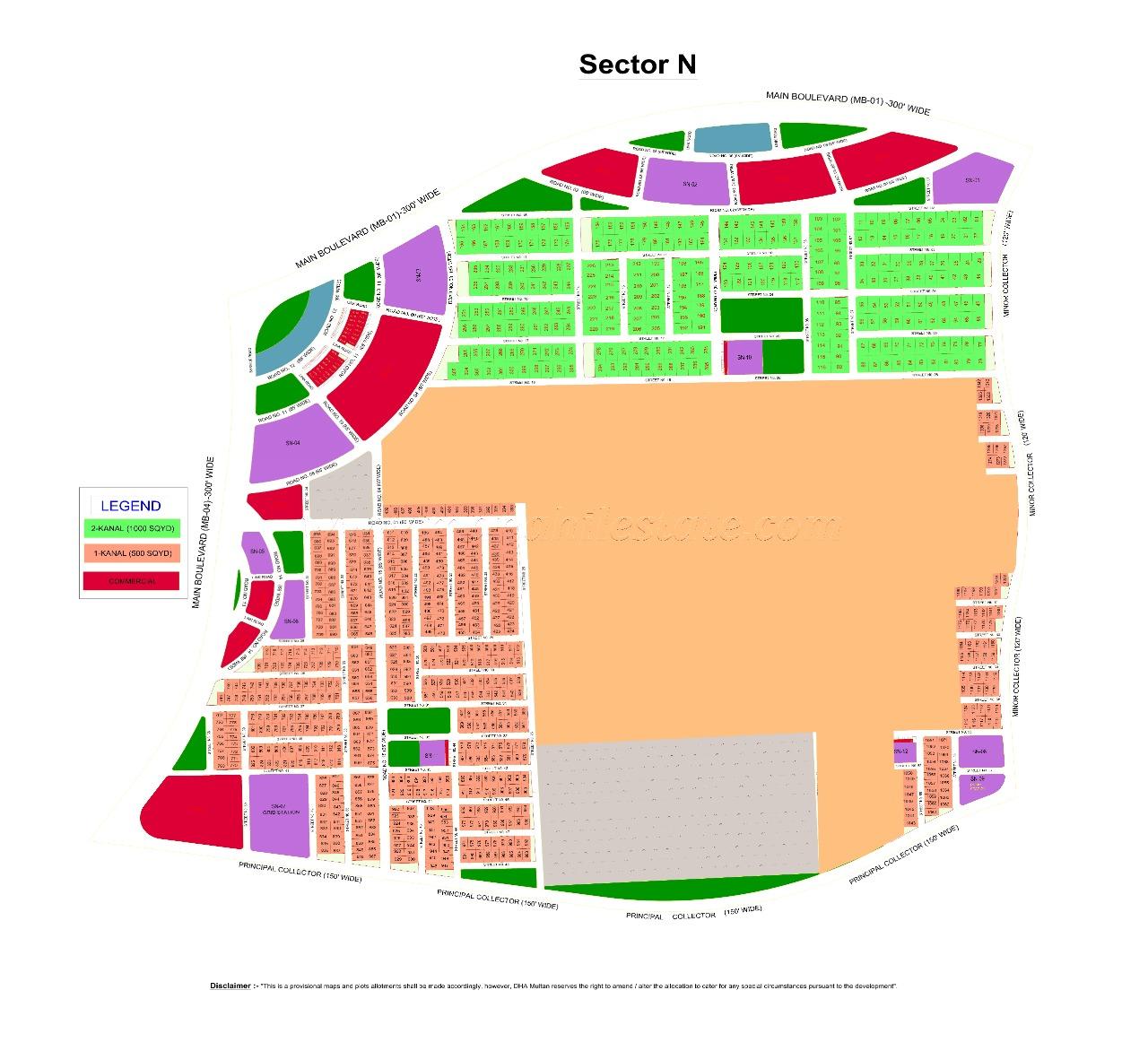 N 962 1 Kianal Plot For Sale in DHA Multan