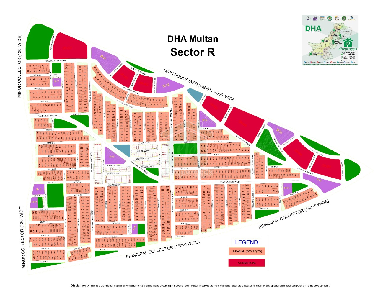 R 650 Prime Location Plot in DHA Multan For Sale