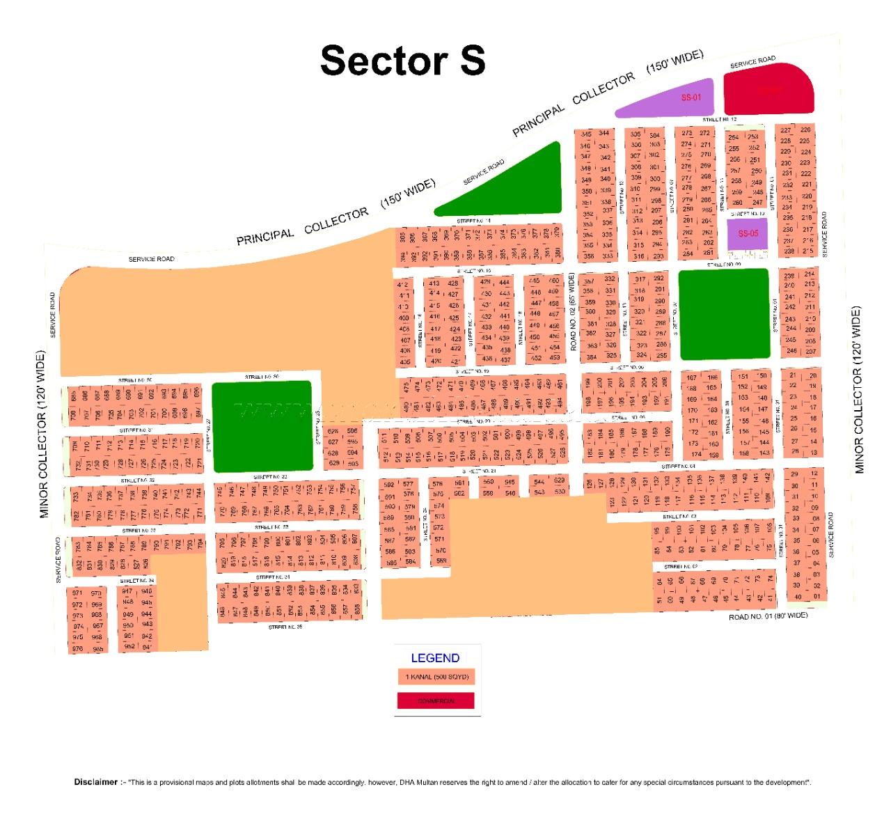 S 967 1 Kanal Plot in DHA Multan For Sale