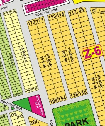 Z6-146  Near park Hot Location Plot in DHA Phase 8