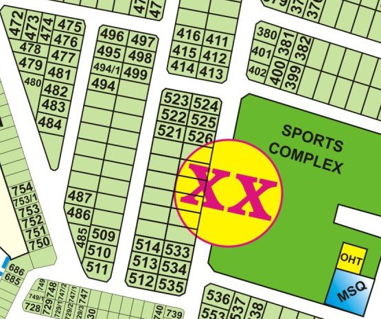 XX-502 1 Kanal Hot Location Plot Near Park in Dha Phase 3 XX Block